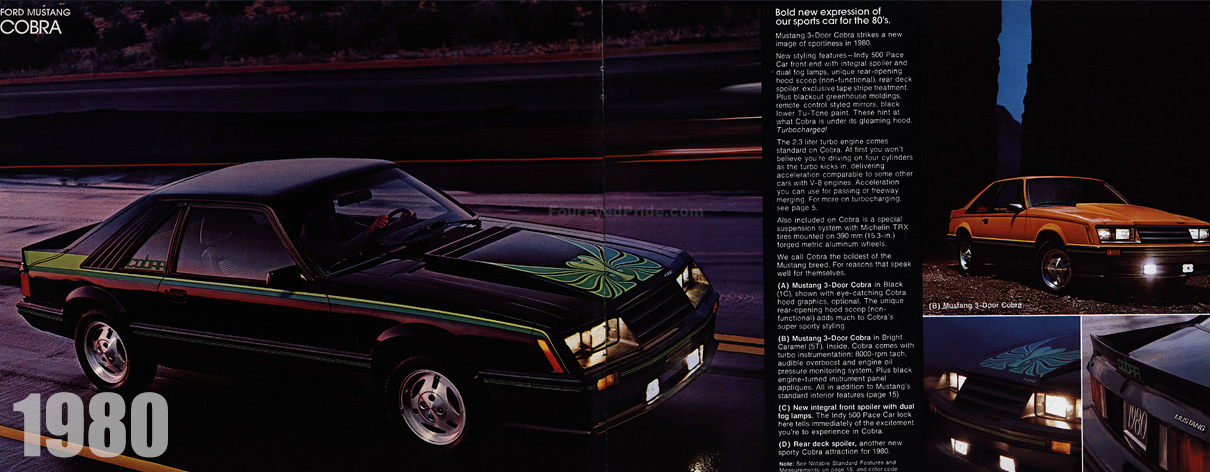 1980 Mustang Cobra New