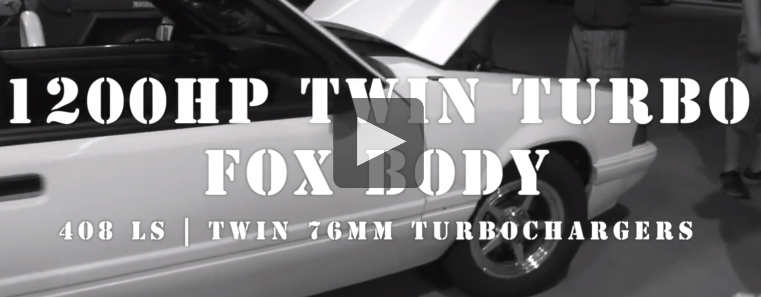 Unstoppable Twin Turbo 408 Mustang Notch