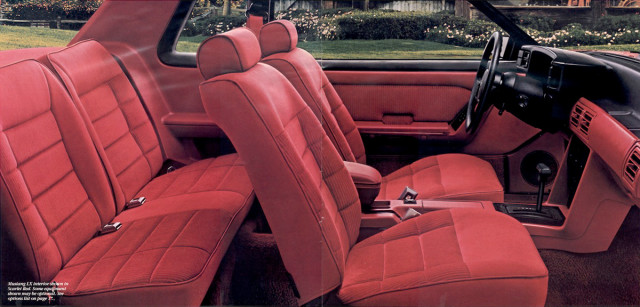 1987 Mustang GT interior scarlet red
